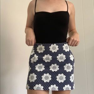 Top shop flower mini skirt